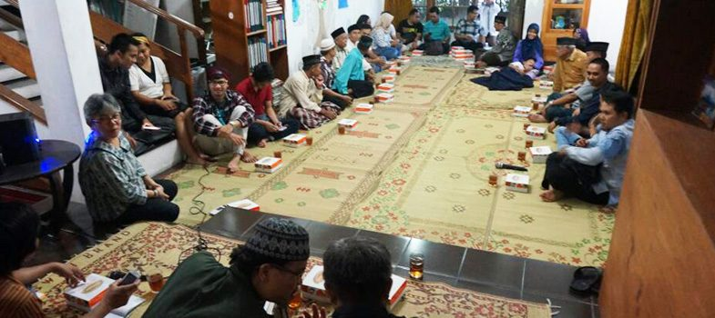Breaking the fast with neighbouring villagers